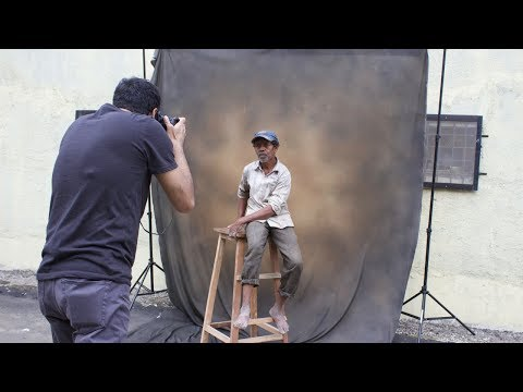 Quick outdoor studio setup for portrait photography