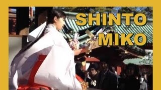 Japan Shinto Miko 巫女 Blessing Ceremony on New Year