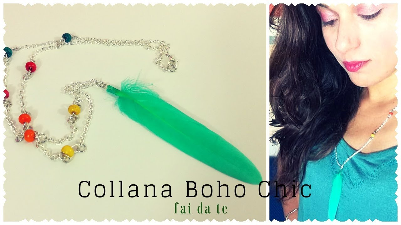 Tutorial: Collana Boho con una Piuma! | in Collab. con #DIYbySelena