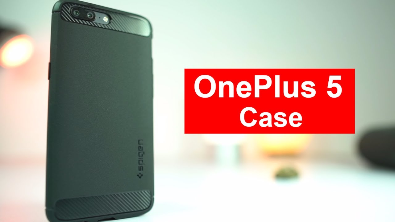 hot sale online cc8ef 94828 Oneplus 5 Spigen Rugged Armor Case Unboxing and Review