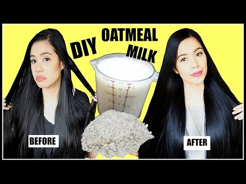 HOW TO MAKE OATMEAL MILK FOR OILY HAIR, DANDRUFF, HAIR GROWTH & HAIR LOSS-Beautyklove