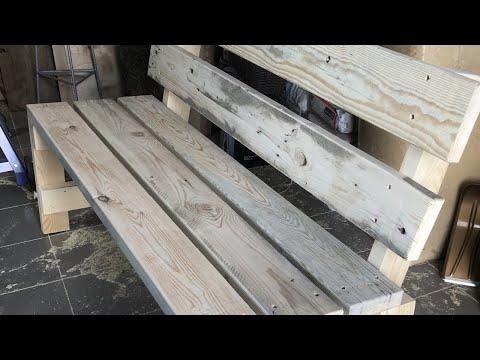 Как самому сделать скамейку со спинкой из дерева