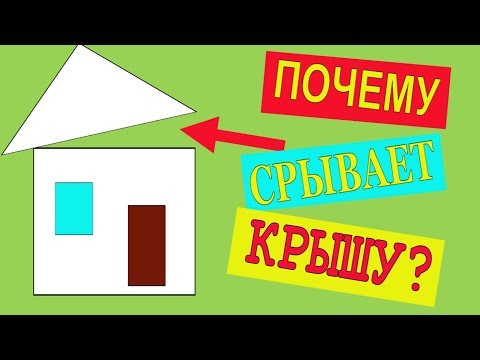 Почему срывает крышу? Софиты для свесов кровли