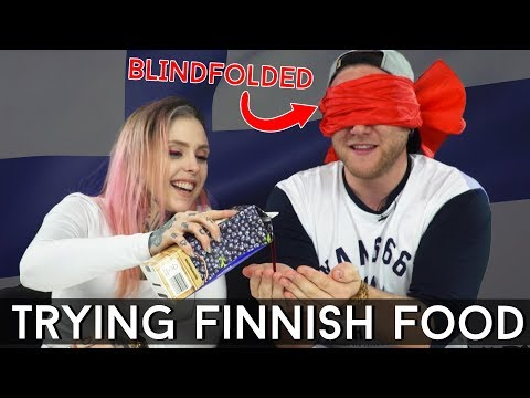 TRYING FINNISH FOODS BLINDFOLDED