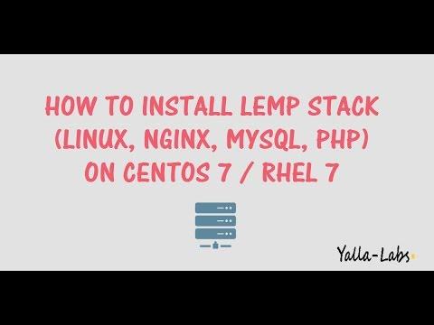 How To Install Linux, Nginx, MySQL, PHP (LEMP) Stack On CentOS 7/RHEL 7