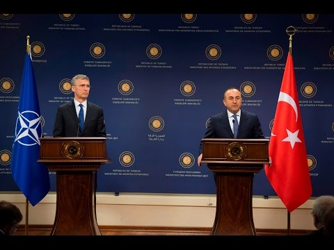 NATO Secretary General with Minister of Foreign Affairs of Turkey, 21 APR 2016