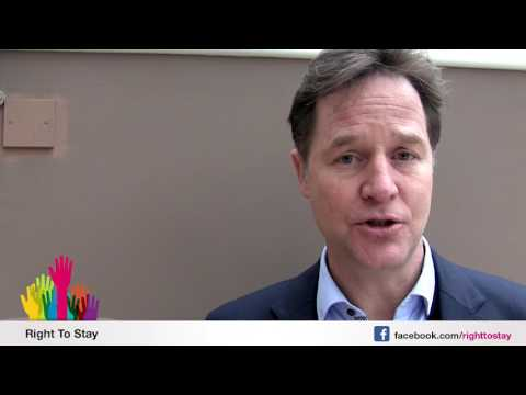Nick Clegg about EU citizens living in the UK - English