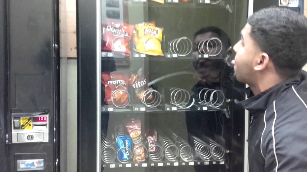 how to into a vending machine