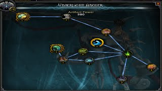 Artifact fishing rod guide how to get the underlight for Fishing poles wow