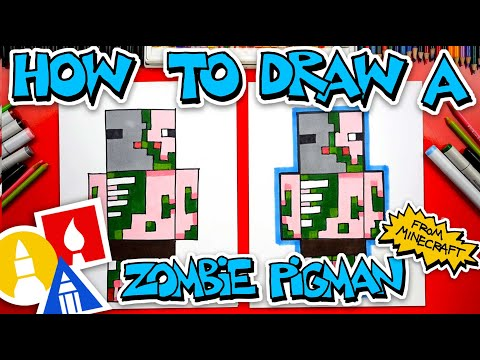 How To Draw A Zombie Pigman From Minecraft