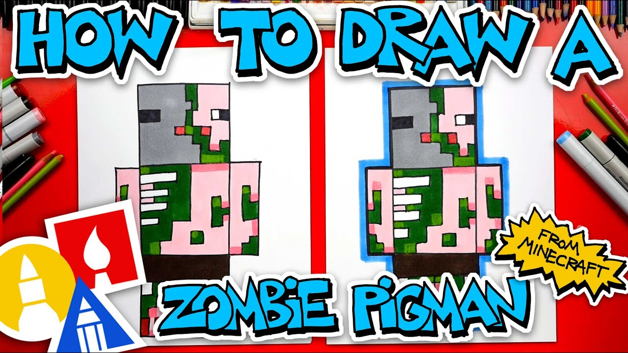 How To Draw A Zombie Pigman From Minecraft (for kids 13 and up)
