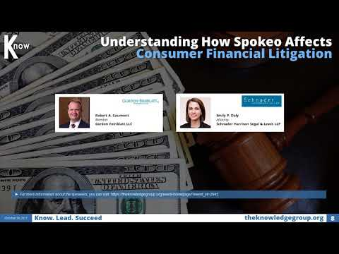 Spokeo Affects Consumer Financial Litigation