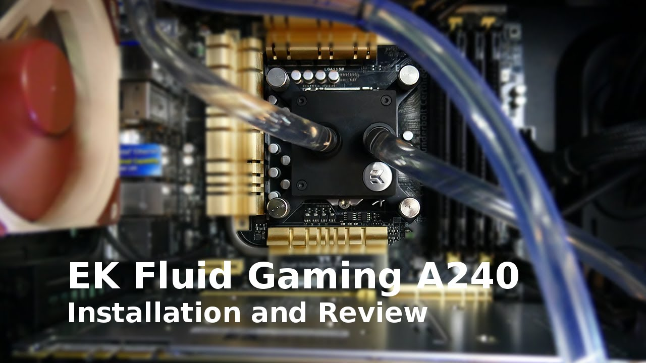 Custom PC Watercooling with Aluminum: EK A240 Install & Results