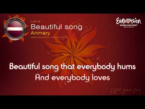"Anmary - ""Beautiful Song"" (Latvia) - [Karaoke version]"