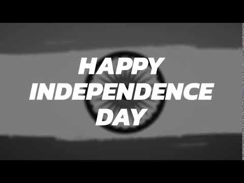 Indian Flag Background And Animated Happy Independence Day Text Video Youtube