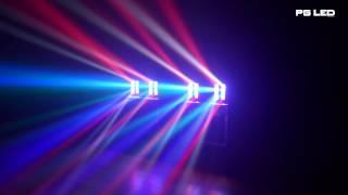 MOVING LED BEAM SPIDER 8X3W RGBW PG LED