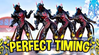 We timed Fortnite Dances & Emotes Perfectly and It looked AMAZING! (Fortnite Battle Royale)