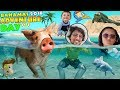 SWIMMING with PIGS in BAHAMAS + IGUANA ISLAND FUNnel Family Exuma Tour Adventure Day #1