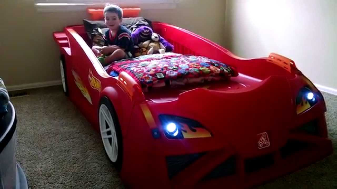 Kid Pov Hot Wheels Toddler To Twin Race Car Bed Youtube