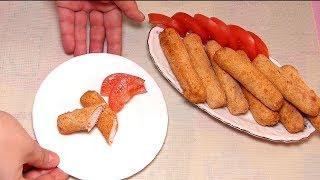 Быстрая и вкусная закуска  крабовые палочки во фритюре