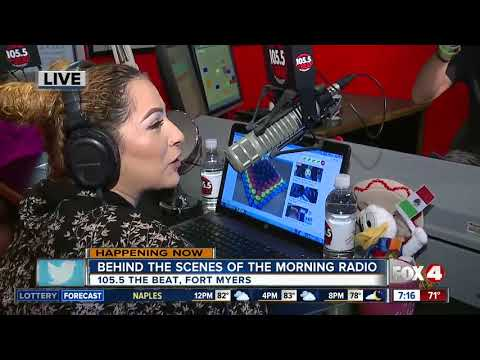 Behind the scenes of radio broadcasts at 105.5 The Beat - 7am