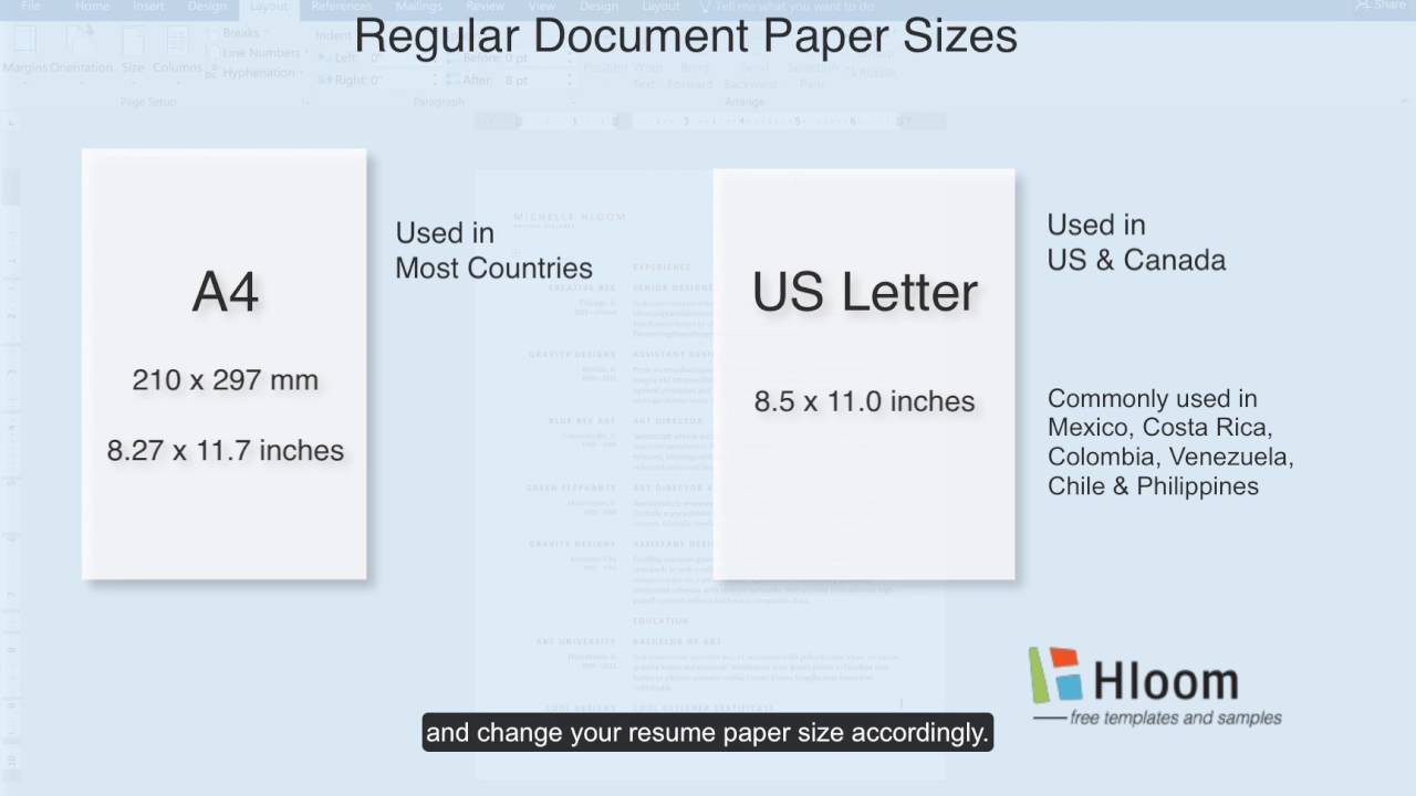 How To Change Paper Size in a Microsoft Word Resume Template - YouTube