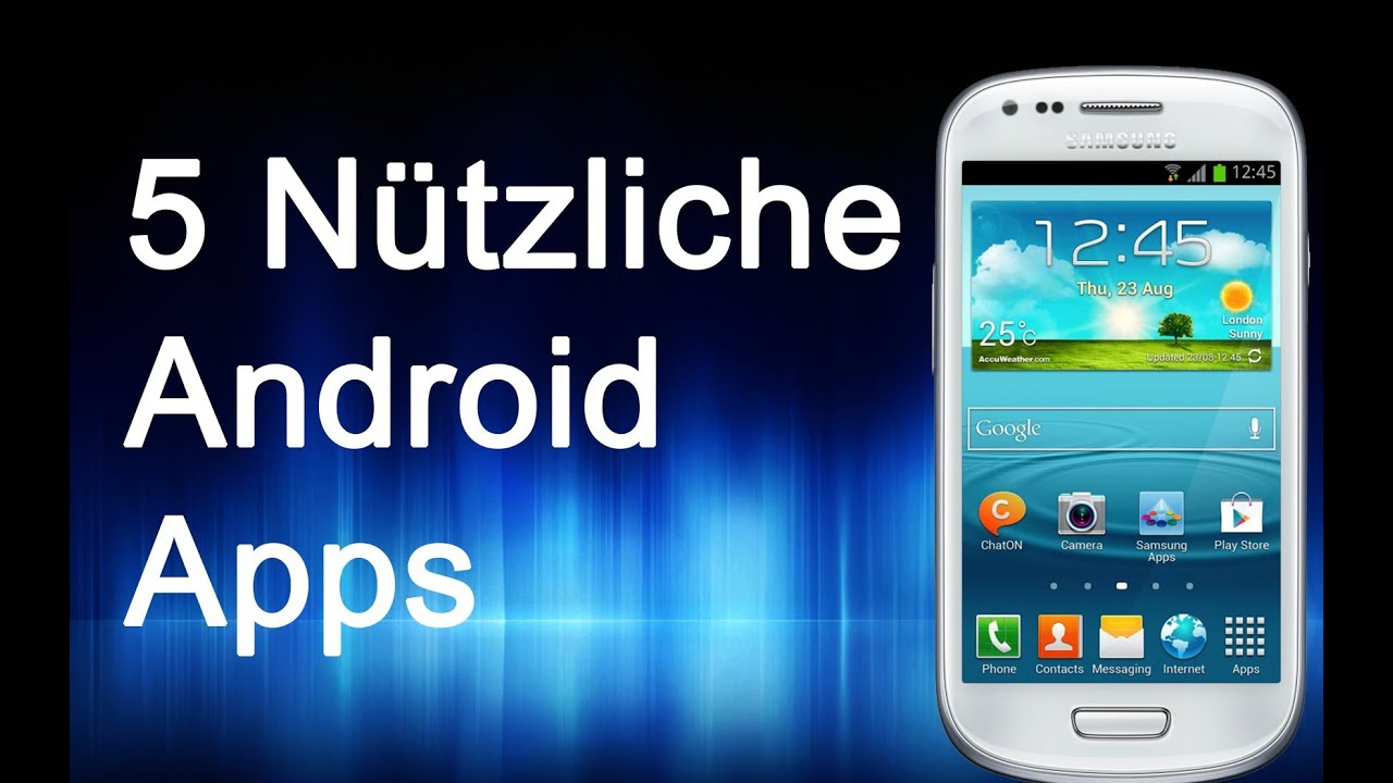 5 n tzliche android apps alle kostenlos german deutsch youtube. Black Bedroom Furniture Sets. Home Design Ideas
