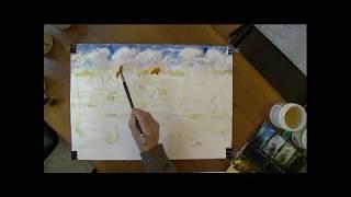 Обложка Видеоурок рисуем осенний пейзаж