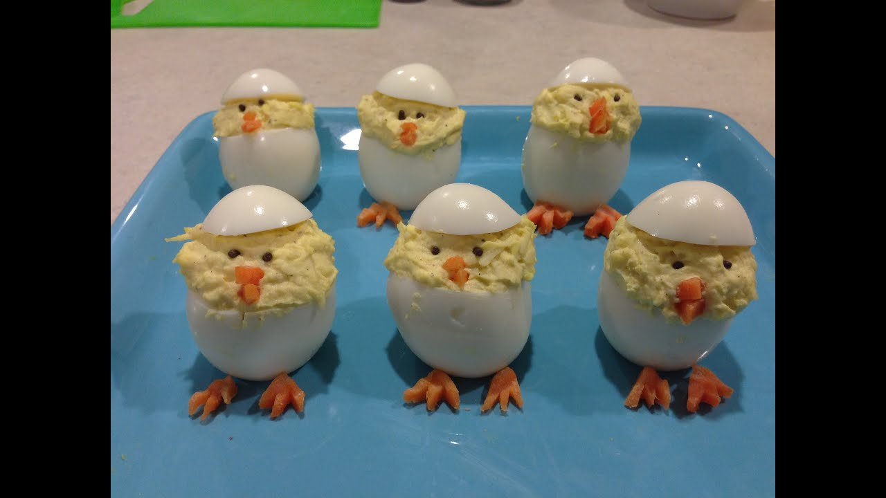 How to make Easter Chick Deviled Eggs - YouTube