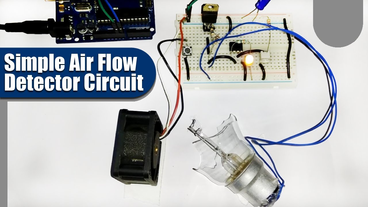 Simple Air Flow Detector Circuit Youtube Lm339 Electronic Circuits Schematics Diagram Free Electronics