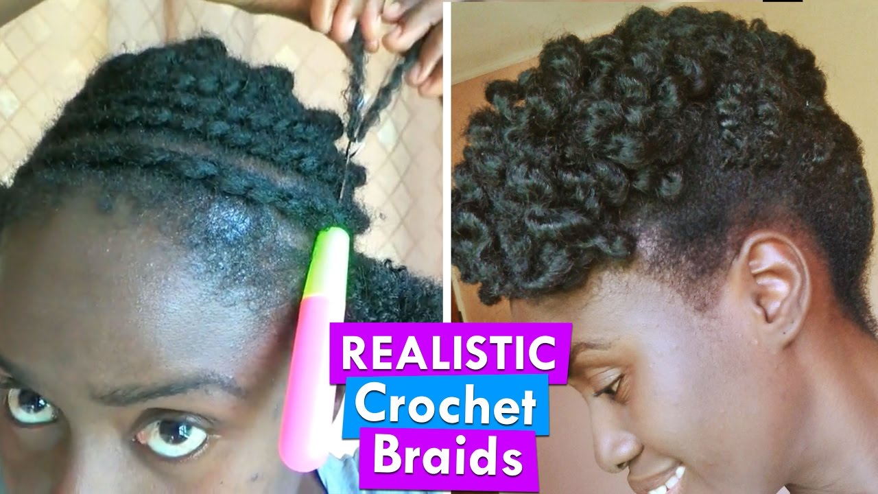 Afro Kinky Crochet Braids Natural Hairstyle On A 2 Strand Twist Out