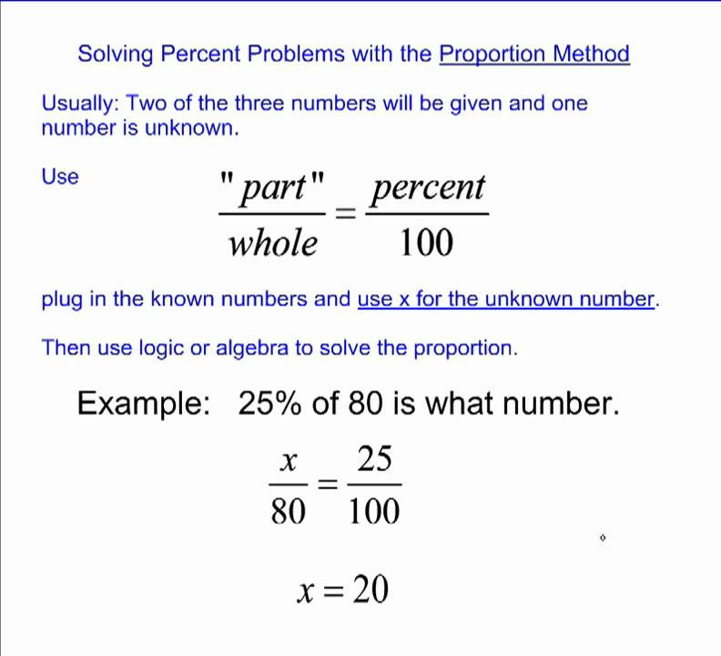 solving problems with proportions