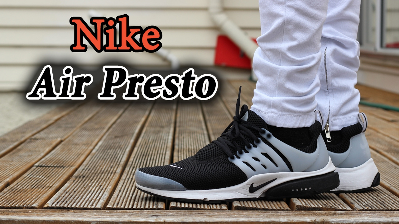 d06c18d0d8a24 ... usa nike air presto black and white on feet with different pants youtube  1724d 19fb8