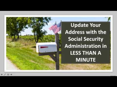 how to change address with ssa