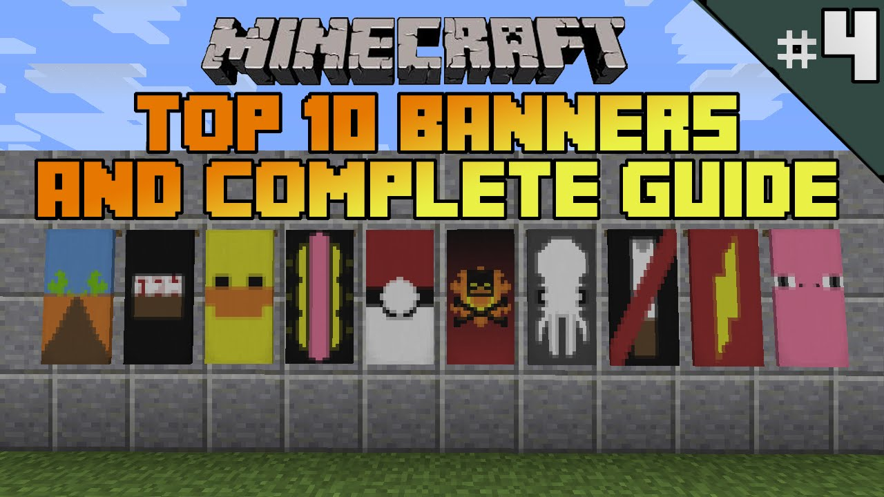 minecraft top 10 banner designs! ep 4 with tutorial!  youtube