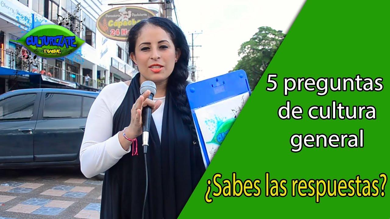 Preguntas De Cultura General En Las Calles De Colombia Sabes Las Respuestas Youtube