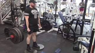 Jason Blaha Full Workout 9-19-2017 - Deficit Deadlifts & Front Squats