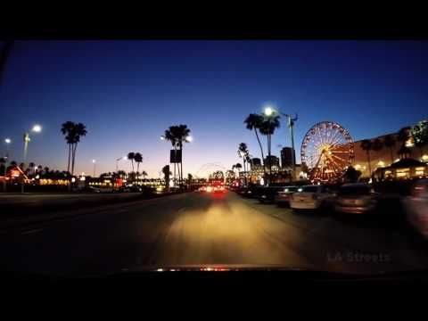 Driving in Long Beach Downtown