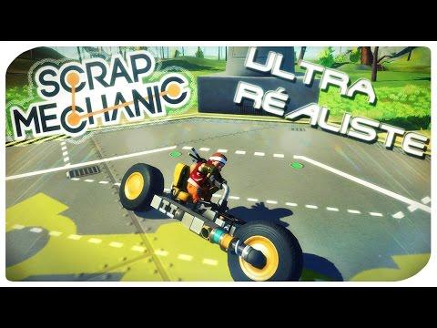 Scrap Mechanic [FR] - Let's build - MOTO AU COMPORTEMENT RÉALISTE  -