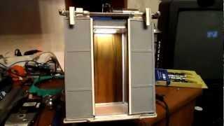 Кабина лифта(Проверка привода дверей кабины макета лифта Свежие видео этого макета: http://www.youtube.com/watch?v=prN2x2ObFpU http://www.youtube.com/..., 2012-04-11T19:31:25.000Z)