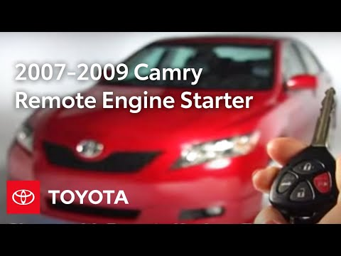 2007 - 2009 Camry How-To: Remote Engine Starter - Operation | Toyota