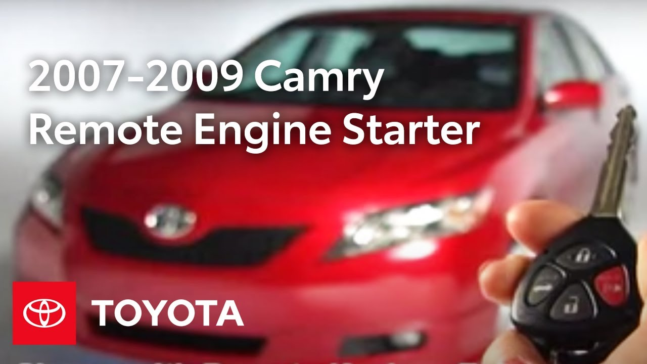 hight resolution of 2007 2009 camry how to remote engine starter operation toyota