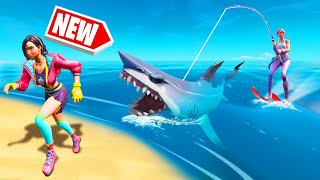 *NEW* RIDABLE SHARKS In FORTNITE! (Insane)