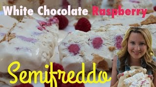White Chocolate Raspberry Semifreddo