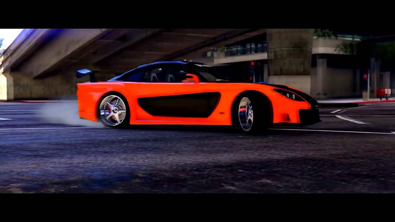 Mazda Rx7 Tokyo Drift >> GTA 5 - Tokyo Drift Montage Han's RX7 Veilside Fortune - YouTube