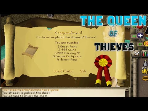 Thumbnail: OSRS The Queen of Thieves Quest Guide (No Cuts)