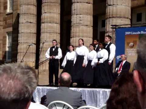 Illinois State Song at the Old State Capitol
