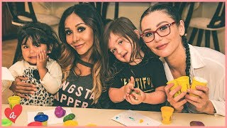 Snooki & JWOWW Do the Play Doh Challenge! | #MomsWithAttitude Moment