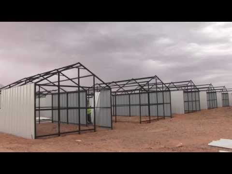 See how a a refugee shelter rises in three hours