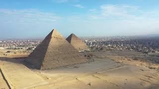 The Three Pyramids Giza in Egypt by drone dji MAvic pro الاهرامات
